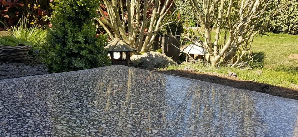 Terrasse béton poli