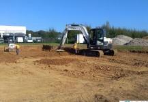 Terrassement pour aménagement plateforme industrielle