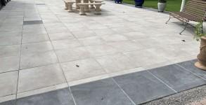 Terrasse en dalles