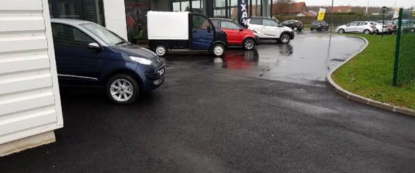 Plateforme commerciale et réalisation d'un parking